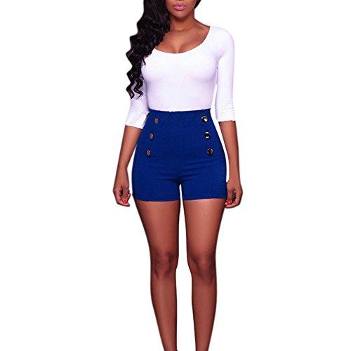 Sonnena Damen Taste Slim Fit Shorts Hotpants, Frauen Mädchen Sommer Wide-Bein Kurze Hosen Sommer Mini Kurze Latzhose Overalls mit Gürtel und Taschen - Mädchen-taste