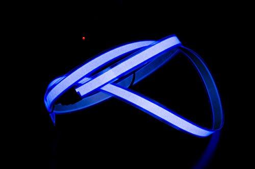 ACROBOTIC Neon-Licht-Tape mit Batteriehalterung, 91,4 x 10 mm (L x B), Blau