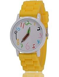 WEIHUIMEI 1 Pieza de Silicona Deportiva de Cuarzo para Mujer Moda Relojes  de números dial lápiz f9bb387bd690