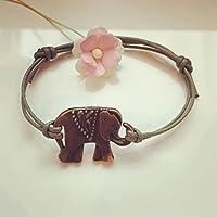 Elefant Armband in Olivgrün Bronze Größenverstellbar, elephant / vintage / ethno / hippie / must have / statement / florabella schmuck