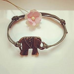 Elefant Armband in Olivgrün Bronze Größenverstellbar, elephant / vintage / ethno / hippie / must have / statement...