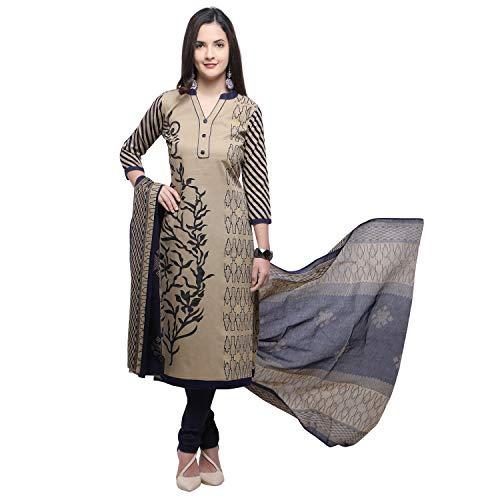 Vaamsi Women's Dress Material (Deep1056!_Beige!_One Size)