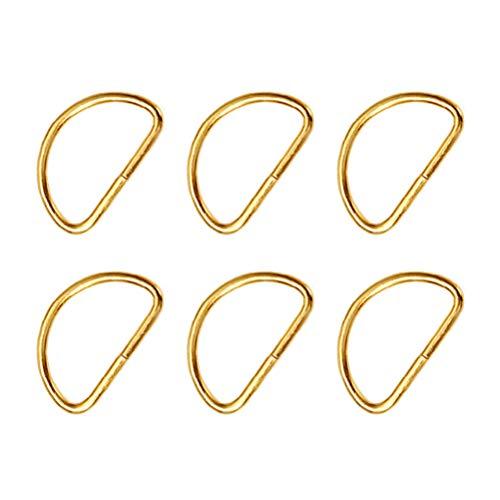 SUPVOX Metall D Ring Schnalle Nicht Geschweißt D Ring Einstellbare Schnalle für Gepäck Kleidung Rucksäcke Gurte 100 Stücke (Golden) -