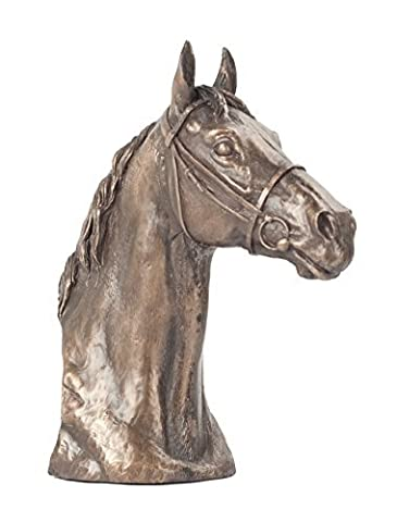 David Geenty Thoroughbred Horse Head Bronze
