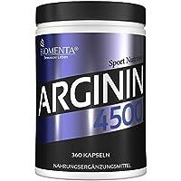 Preisvergleich für BIOMENTA L-ARGININ 4500 | EINFÜHRUNGSPREIS!!! | 360 Stück hochwertige L Arginin Kapseln HOCHDOSIERT