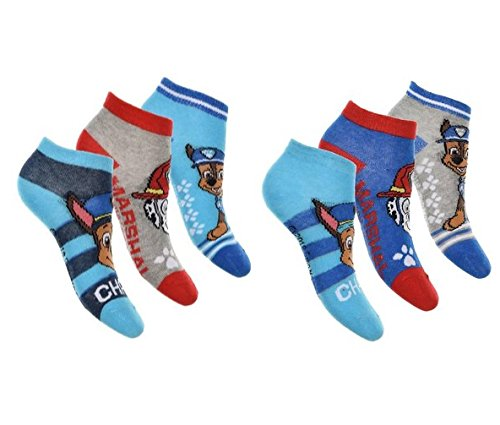 Jungen Sneaker Socken Paw Patrol 6 Paar 31-34/mehrfarbig