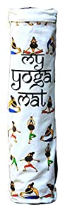 Eco Corner Canvas Yoga Mat Bag (26 inches x 6 inches x 6 inches, Off-White, 4109)