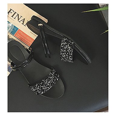 Rtry Sandales Comfort Pour Femmes Pu Spring Summer Casual Hook & Amp;  Boucle Talon Bas. Chaussures ...