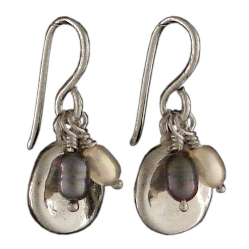 4c9e86af720ac3 Handmade 925 Sterling Silver Round Dangle Earrings with Freshwater Pearls  with Free Gift Packaging by Otis Jaxon
