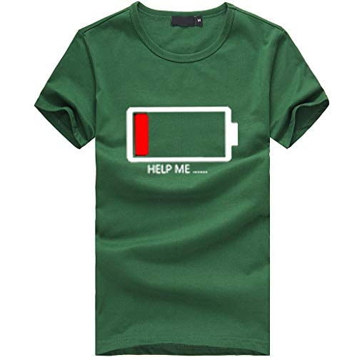 iHENGH Damen Top Bluse Lässig Mode T-Shirt Frühling Sommer Bequem Blusen Frauen Mädchen Plus Size Print Tees Shirt Kurzarm T-Shirt Bluse Tops(Grün, S) -