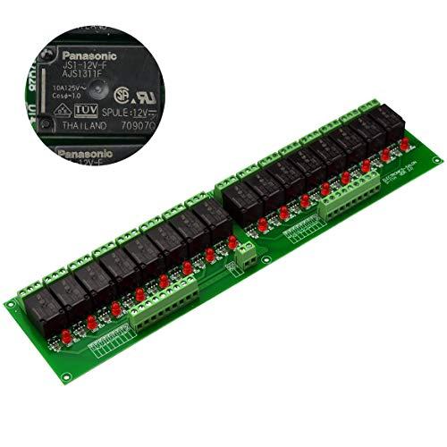 Electronics-Salon 16 Relais de puissance SPDT, bobine 12V, 10A 277VAC / 30VDC.