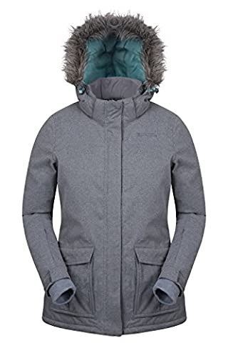 Mountain Warehouse Braddock Women's Ski Jacket - Waterproof, Taped Seam, Breathable IsoDry Fabric with Detachable (Giacca Con Cappuccio Pista)