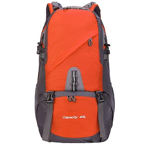 All'aperto Supporto multifunzione Sport Escursionismo arrampicata Viaggio Le spalle Campeggio Impermeabile Zaino (Blu) arancia