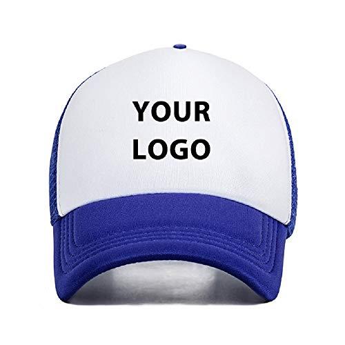 Hardon Personalisiert Cap mit Foto oder Text Basic Baseball Mütze Basecap Sommer Hüte Kappen für männer Frauen,Dunkelblau