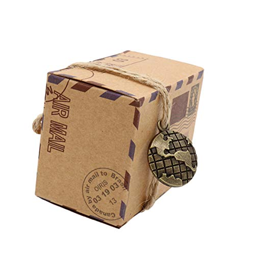 Pralinenschachtel Vintage Lebensmittel Schokolade Geschenk Verpackung Fall für Hochzeit Bevorzugt Geschenke Tasche Party (Stil 2) ()
