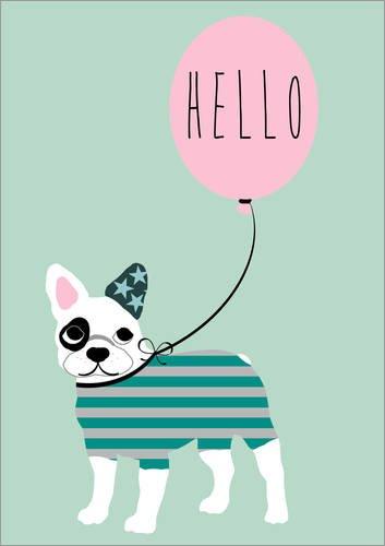 Posterlounge Cuadro de metacrilato 13 x 18 cm: Bulldog de GreenNest