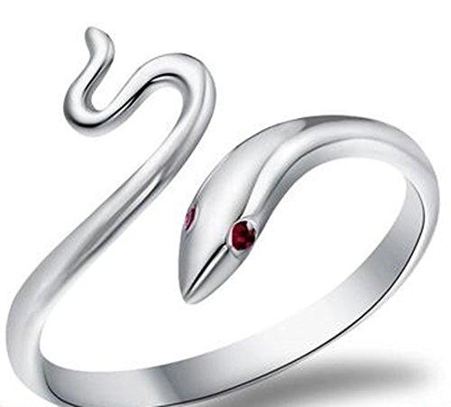 Cosanter Anillo de Las Mujeres Moda Elegante forma de Serpiente anillo de Bend Anillos Ajustables Abiertos Joyería de La Boda Para Dama Niñas Regalo de Cumpleaños
