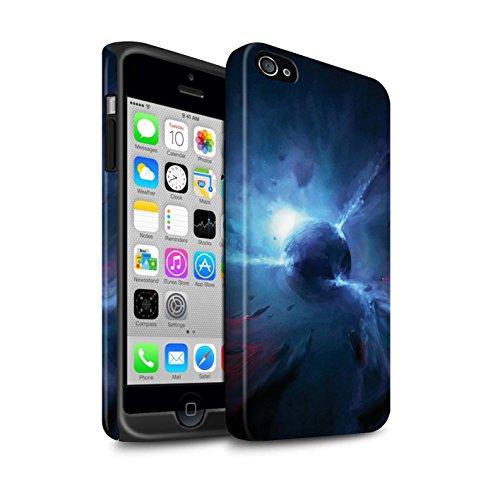 Offiziell Chris Cold Hülle / Matte Harten Stoßfest Case für Apple iPhone 4/4S / Pack 6pcs Muster / Galaktische Welt Kollektion Pulsar/Neutron Stern