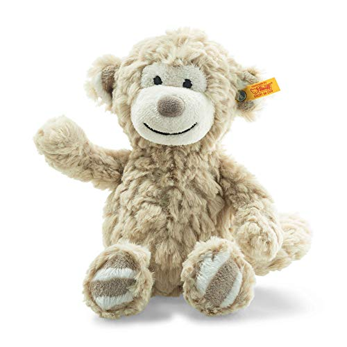 Steiff Soft Cuddly Friends Bingo Monkey Musical Toy, 23 cm, Light Brown