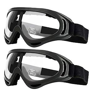 Pack de 2 gafas de seguridad para niños con protección anti niebla y protección ultravioleta perfecta para pistola de espuma Blasters