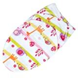 YouN Baby Swaddle Wrap Newborn Blanket Swaddling Sleeping Bag(Giraffe)