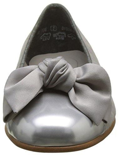 Gabor Damen Basic Geschlossene Ballerinas Grau (Silber/Grau)
