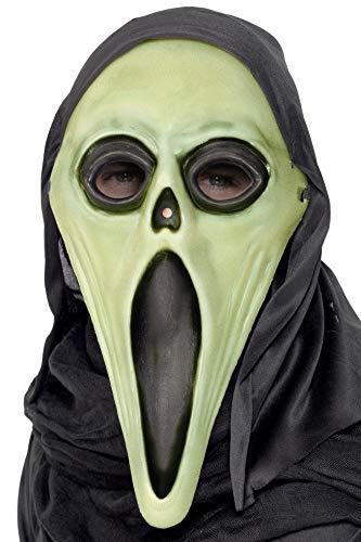 Smiffys Herren Schrei Maske mit Kapuze, Leuchtet im Dunkeln, One Size, Schwarz und Weiß, 99024 (The Ideen Glow Halloween-kostüme Dark In)
