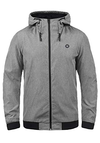 JACK & JONES Core Jaden Herren Übergangsjacke Herrenjacke Jacke gefüttert mit Kapuze, Größe:XL, Farbe:Light Grey Melange