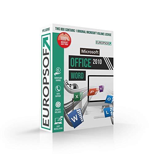Microsoft® Word 2010 DVD mit original Lizenz. Europsoft Box. Papiere & Zertifikate. Alle Sprachen 32 & 64bit