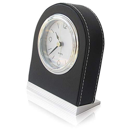 HOOPOO Relojes Escritorio Reloj De Cuero Estilo, Silencioso