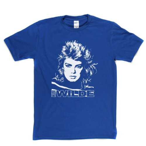 Kim Wilde 80s T-shirt, Royal Blue - other colours available