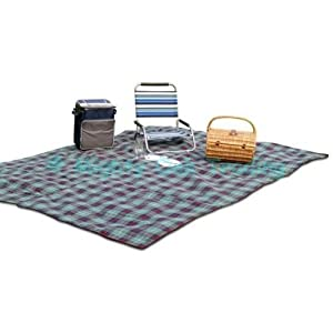 41lEst3RrvL. SS300  - Out There Jumbo Family Sized Tartan Picnic Rug Travel Blanket 3m x 2.2m (colours may vary)