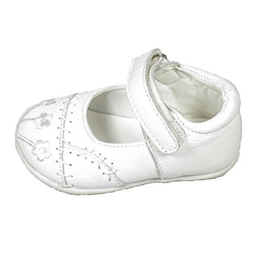 Ballerines pour fille pour les fêtes et les mariages en tailles 19–23 festschuhe numéro au choix pour enfant Blanc - Blanc