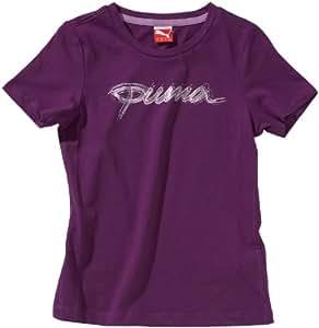 Puma T-shirt Script Logo Organic Cotton pour fille 9-10 ans Violet amarante