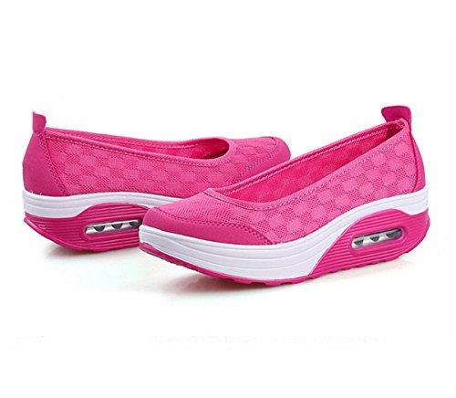 WZG Verbandsmull Schuhe atmungsaktive Mesh-Schuhe Kissen Turnschuhe Schuhe shook schwerem Boden Schuhe gesetzt erhöht Fuß Red