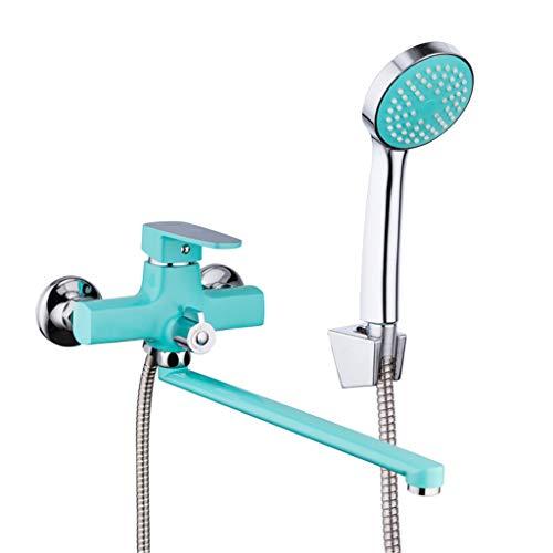 Duschkopf Handbrause 1 Satz Zink-Legierung Auslaufrohr Bad Duscharmaturen Mischbatterie Mit Handsprüher Badarmaturen Automatischer Boost Und Wassereinsparung, Einfach Zu Installieren - Beruhigende Satz