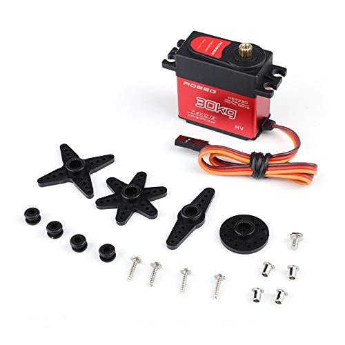 Wasserdichte Metal Hollow Cup Alloy Gear Digital Lenkgetriebe Metal Swing Arm schwarz -