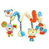 ★ Heiße Verkäufer ★ Labebe Activity Spiral, Bunte Puppen Kinderwagen Spielzeug mit Bär & Maus für Unisex Baby, Baby Spielzeug Kinderwagen/Spiral Kind/Bunte Spiral Groß/Spiral Maxi Cosi/Spiral Teddy/Kind Spiral Bunt