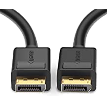 UGREEN Displayport Kabel 2m HD 4K DisplayPort auf DisplayPort Kabel DP 1.2v Stecker zu Stecker Audio Video Adapterkabel für Neue HDTVs, Beamer Displays, Monitor, Grafikkarten und Apple, Vergoldete Kontakte mit Verriegelung 6ft