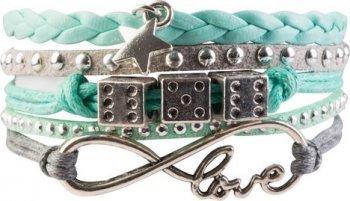 "USG Armband\""Infinity\"", mintgrün"