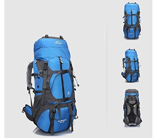 Professional outdoor wandern Rucksack Reise Tasche 80L Liter Rucksäcke Team Rucksack Blue