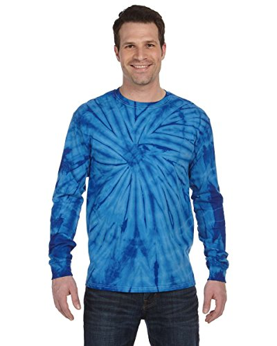Pliuegy 5.4 oz., 100% Cotton Long-Sleeve d T-Shirt 2Spider Royal