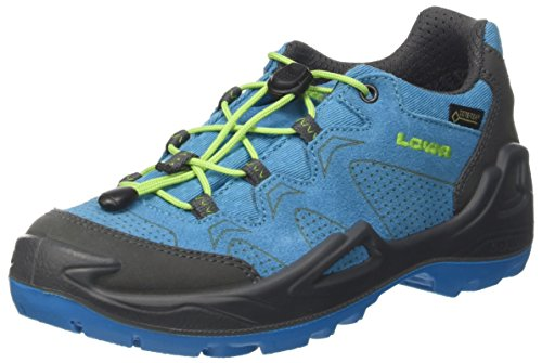 Lowa Unisex-Kinder Diego GTX Lo Trekking- & Wanderstiefel, Blau (Blue/Limone 6003), 37 EU