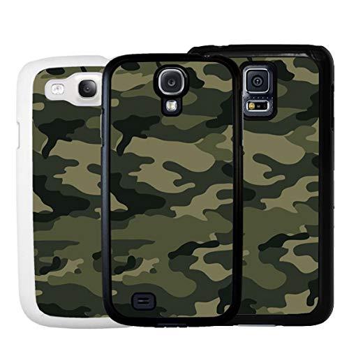 Geketto Store Cover Per Samsung Mimetico Verde Militare, Samsung Galaxy S5 Mini, Nero