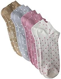 Weri Spezials Sneaker 4-er Set Punktchen in 4 Farben in Cr?me/Altrosa/Grau/Camel
