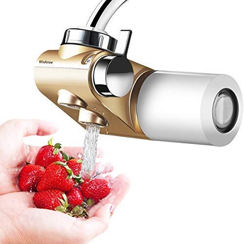 WinArrow Filtro per lacqua del rubinetto depuratore dellacqua di rubinetto aggiornato con cartuccia ceramica sinterizzata KDF55 per il bagno della