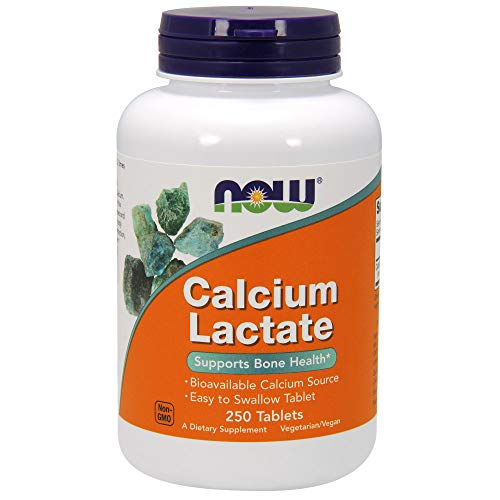 Now Foods Calcium Lactate - 250 Tablets - 250 Tabletas