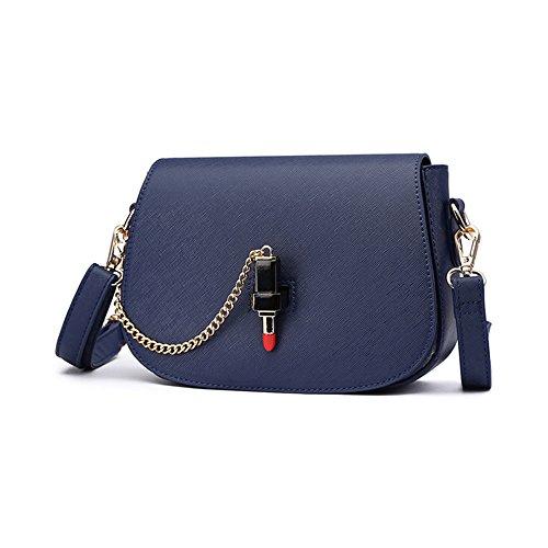 Pacchetto personalizzato di moda estiva, versione coreana dello zainetto spostato spalla, borse semplici semplici ( Colore : Blu zaffiro ) Blu zaffiro