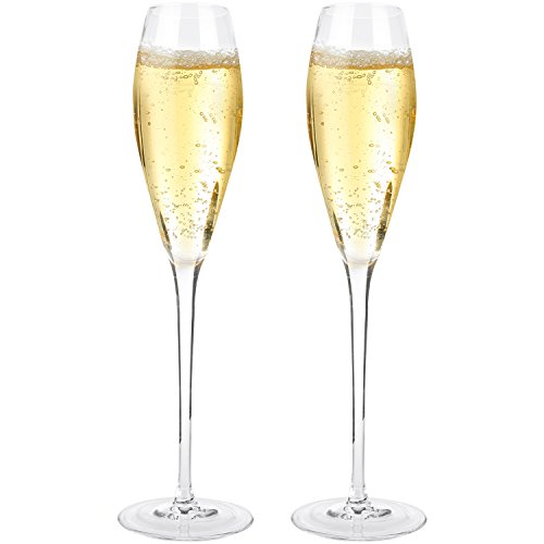Docteur Hetzner 2Pcs Flûtes à Champagne Verre à Champagne en 100% Cristal sans Plomb Parfait pour Toute Occasion