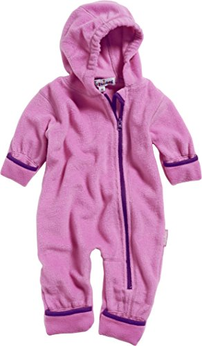 Playshoes Unisex Baby Fleece-Overall Farblich Abgesetzt, Rosa (Pink 18), 68